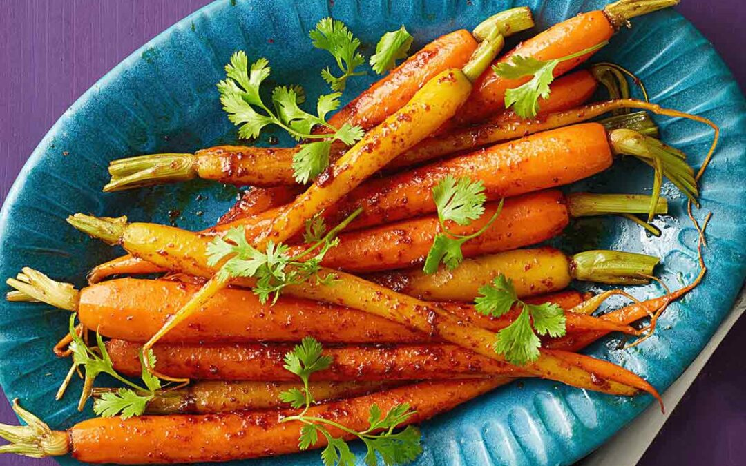 Harissa Carrots and Pita Recipes for BCFA Cooking Live!